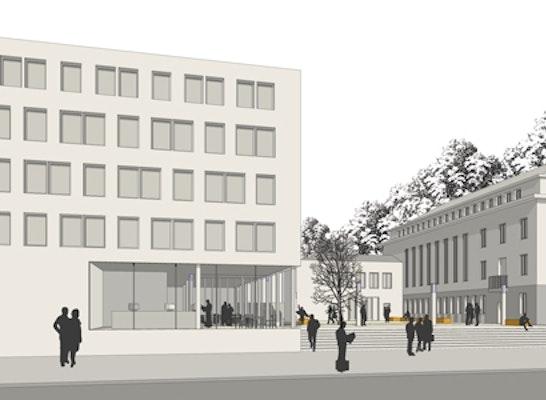 Ergebnis erweiterungsneubau stadtverwaltung weimar competitionline - Architekturburo weimar ...