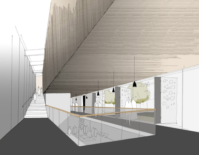 Skizze Foyer