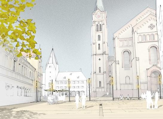 1. Preis: Blick auf die Pfarrkirche, © Schegk