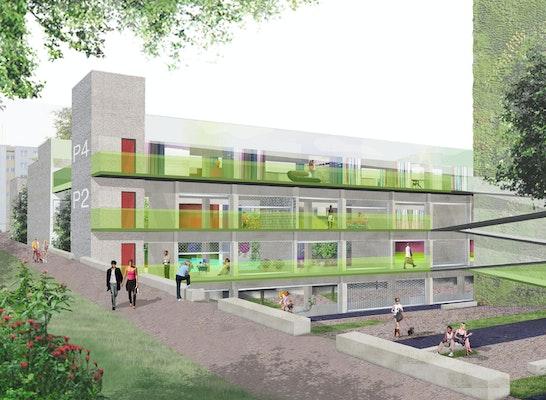 Teilnahme - Grundstück Briesestraße 19 (Neukölln): Einer von 31 Entwürfen: Grundstück Briesestraße 19 (Neukölln) - Augustin und Frank Architekten