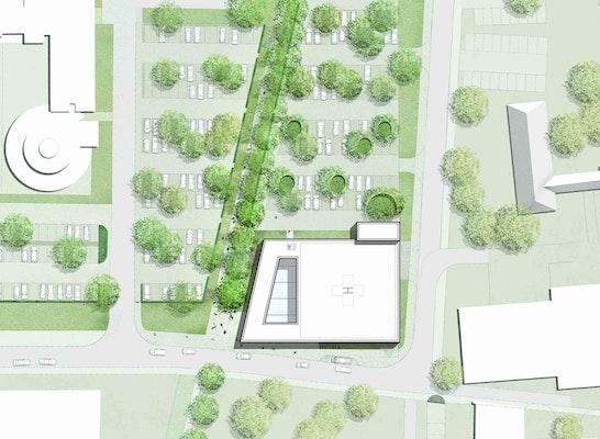 Neubau Verwaltungsgeb 228 Ude Mit Parkgeschoss Und Hubs