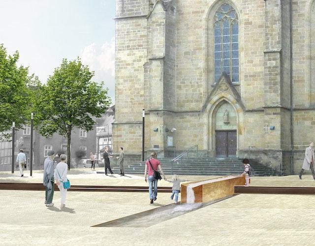 Neugestaltung Marktplatz und Dr.-Segin-Platz in Warstein
