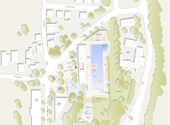 1. Preis: Lageplan, © bauatelier freie Architekten Haas und Hiesch
