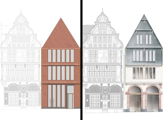 Ergebnis bebauung domr merberg parzellen markt 7 u competitionline - Dreibund architekten ...
