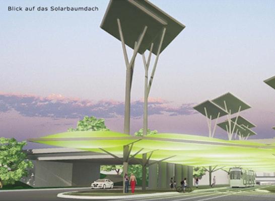 Solarbaumdach am Damaschkeplatz