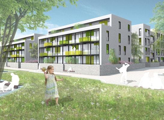 Ergebnis bahnstadt heidelberg wohnen an der prome competitionline - Architekturburo heidelberg ...