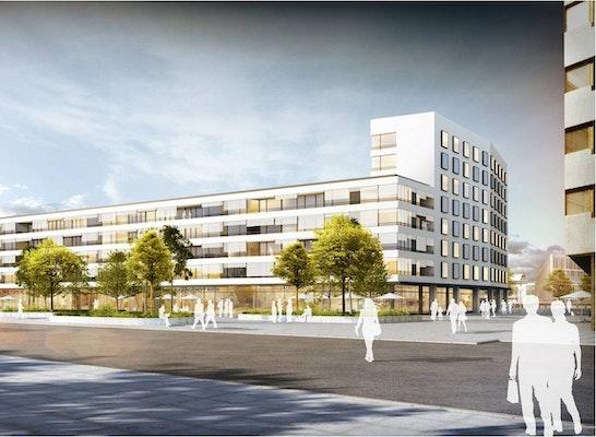 Zuschlag Nach Überarbeitung: Visualisierung Südseite, © Henchion Reuter Architekten