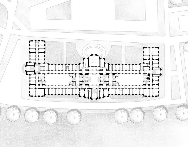 Vergabe-Nr.: 17D40556 Verhandlungsverfahren – Objektplanungsleistungen für Gebäude und Innenräume für die Sanierung und Instandsetzung der Sächsischen Staatskanzlei, Archivstraße 1, 01097 Dresden.