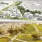oben ein 2. Preis: zanderroth architekten, Berlin (DE), herrburg Landschaftsarchitekten, Berlin (DE) unten ein 2. Preis: Prof. Carsten Lorenzen APS, Kopenhagen (DK)
