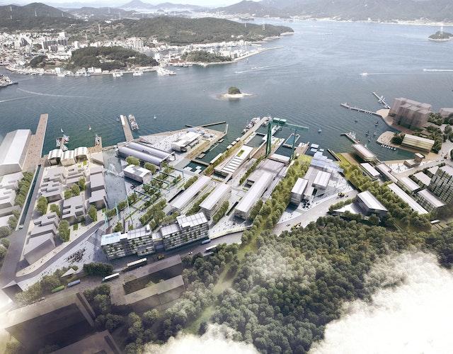 Tongyeong Dockyard in Südkorea