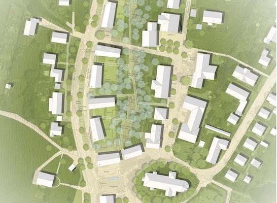 1. Preis: Lageplan, © MORPHO-LOGIC   Architektur und Stadtplanung, Lex-Kerfers Landschaftsarchitekten BDLA
