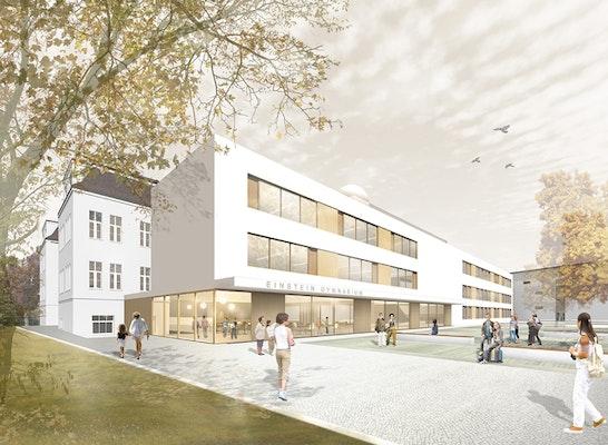1. Preis: Perspektive neue Eingangssituation, © TRU Architekten