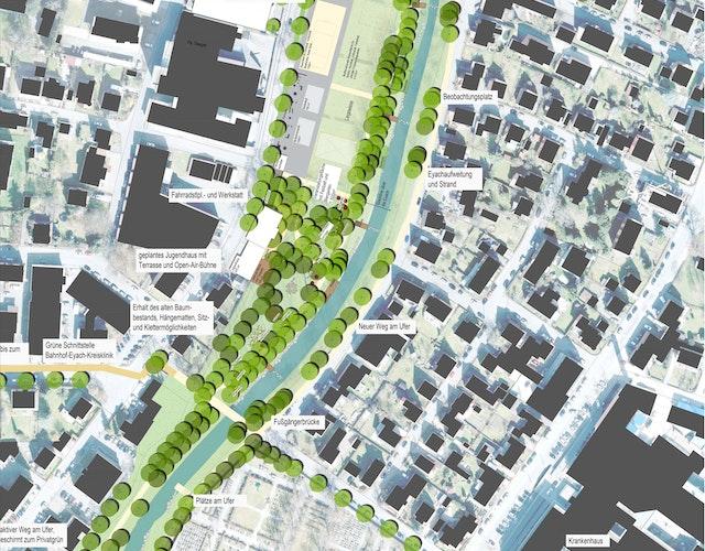 Neugestaltung von Freianlagen mit einem generationsübergreifenden Aktivpark im Rahmen der Gartenschau Balingen 2023
