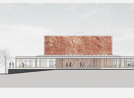 1st Prize: Ansicht Haupteingang, © DGM Architekten