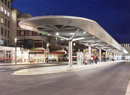 projekt moderner busbahnhof f r die stadt rheine. Black Bedroom Furniture Sets. Home Design Ideas