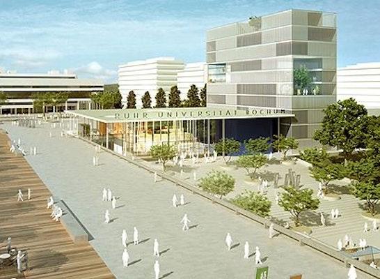 Ergebnis neuordnung der zentrale der ruhr universit competitionline - Architekturburo bochum ...