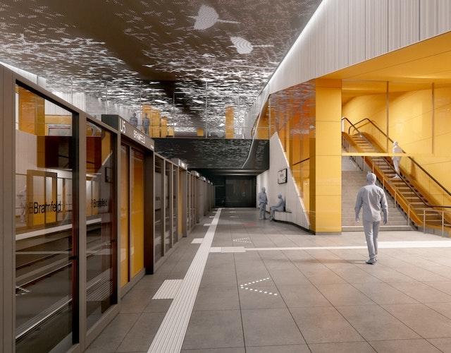Raumbildender Ausbau der U5-Ost Neubauhaltestelle Steilshoop
