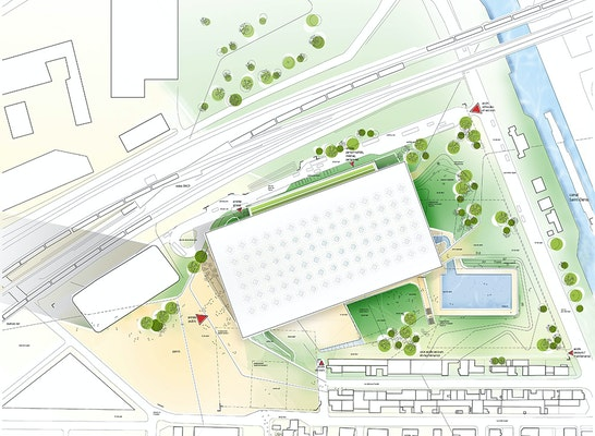 3 rang construction d 39 un centre aquatique competitionline - Behnisch architekten boston ...
