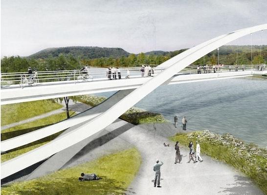 Gewinner Zur Realisierung empfohlen Saarbrücke / Sport- und Freizeitpark