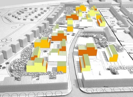 1. Preis Städtebau / 3. Preis Wohnungsbau