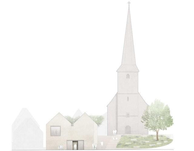 Laudenbach I Innenrenovierung der Martin-Luther-Kirche und Neubau von Gemeinderäumen