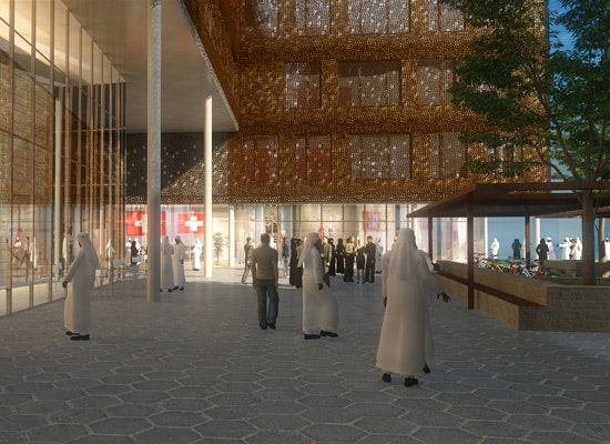 Projekt swiss village sprinter building masdar city competitionline - Bob gysin partner bgp architekten ...