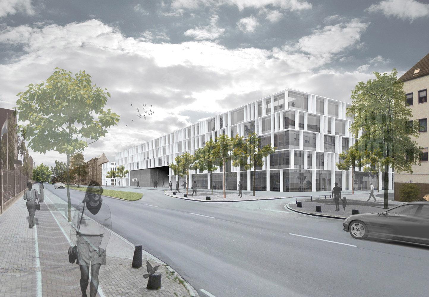 Moderne bürokonzepte  Ergebnis: Fassadengestaltung Neubau DATEV-Entwickler...competitionline