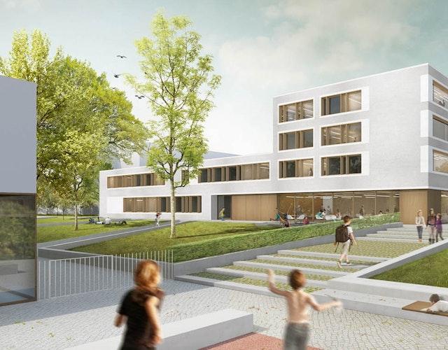 Umbau Grundschule und Neubau Bürgerzentrum Hegermühle in Strausberg