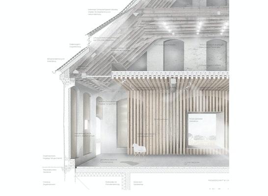 1. Preis Zuschlag: Detailschnitt, © Bembé Dellinger Architekten und Stadtplaner