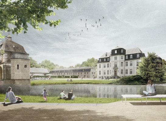 Perspektive Schlossinsel/Rosendamm