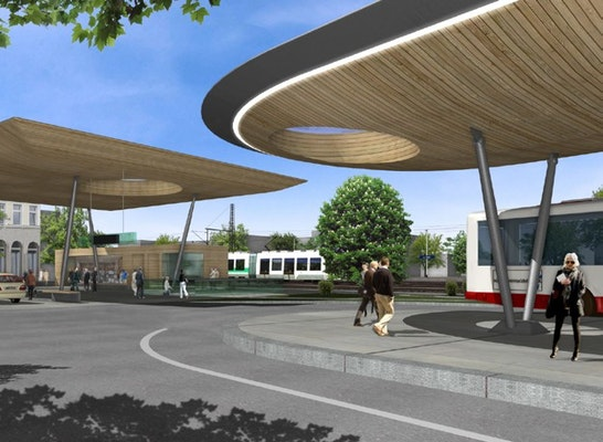 ergebnis gestaltung und 220 berdachung busbahnhof unn. Black Bedroom Furniture Sets. Home Design Ideas