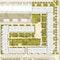 Grundriss Erdgeschoss mit Hofgestaltung  M 1:200