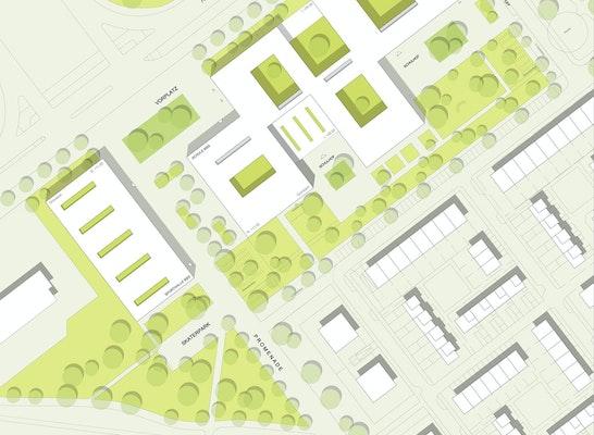 1. Preis Bertolt-Brecht-Schule: Ackermann + Renner Architekten / birke . zimmermann landschaftsarchitekten / EiSat GmbH