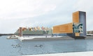 Blick von der Esplanade auf den olympischen Platz mit Flaggenwald
