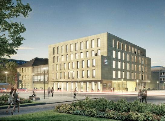Sieger Nach Überarbeitung: Perspektive Luitpoldplatz, © BAURCONSULT Architekten Ingenieure