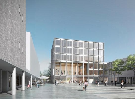 1st Prize: Rathausplatz mit neuem Bezirksrathaus, © JSWD / Mohan Karakoc