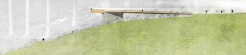 Schnitt - Aussichtssteg mit Tal- und Brückenblick