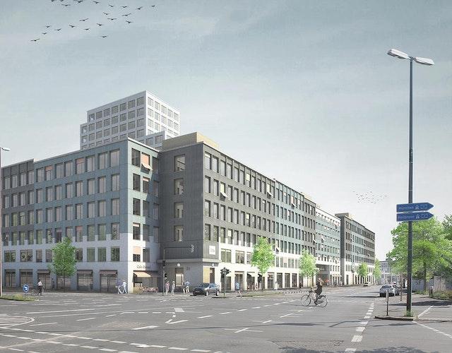 Fassadenplanung Gewerbebauten Seetor-Areal