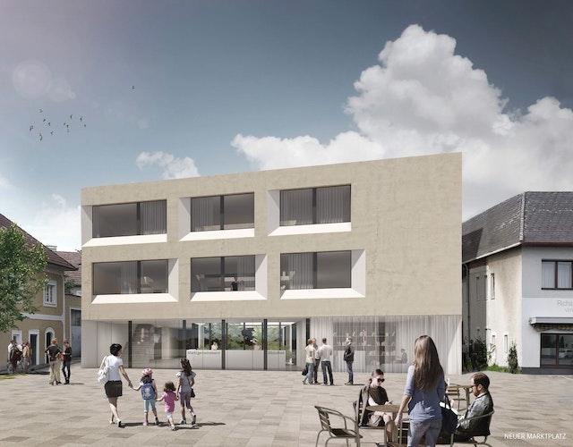 Amtsgebäude, Musikschule und Ortsplatzgestaltung in Hörsching