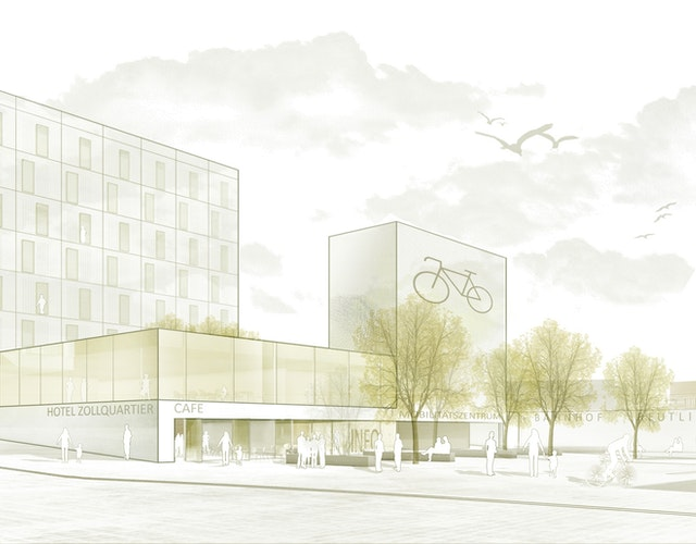 Zollquartier Reutlingen Neubau Business-Hotel und Mobilitätsstation