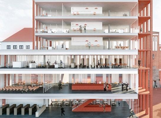 Architekten Luxemburg ein 3 preis neubau der rosa luxemburg stiftung competitionline