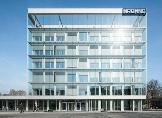 Auszeichnung: Konzernzentrale Krohne, Baumhauer Gesellschaft von Architekten mbH, Süd Ansicht - Haupteingang, © Fotograf: HG Esch