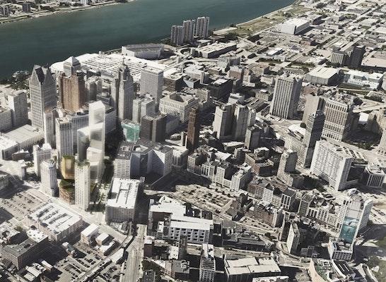 Zuschlag Gewinner: Detroit Monroe Blocks   Aerial