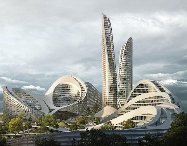 Rublyovo-Arkhangelskoye smart city west of Moscow
