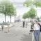 Blick über den neuen Theodor-Heuss-Platz, © bbz landschaftsarchitekten | OBERMAYER Planen+Beraten
