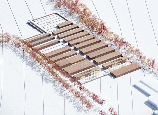 Zuschlag: Modell Betriebshöfe Wolfsburg, © JSWD Architekten