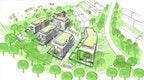 Konzeptioneller Städtebau  Blickrichtung Süd-West