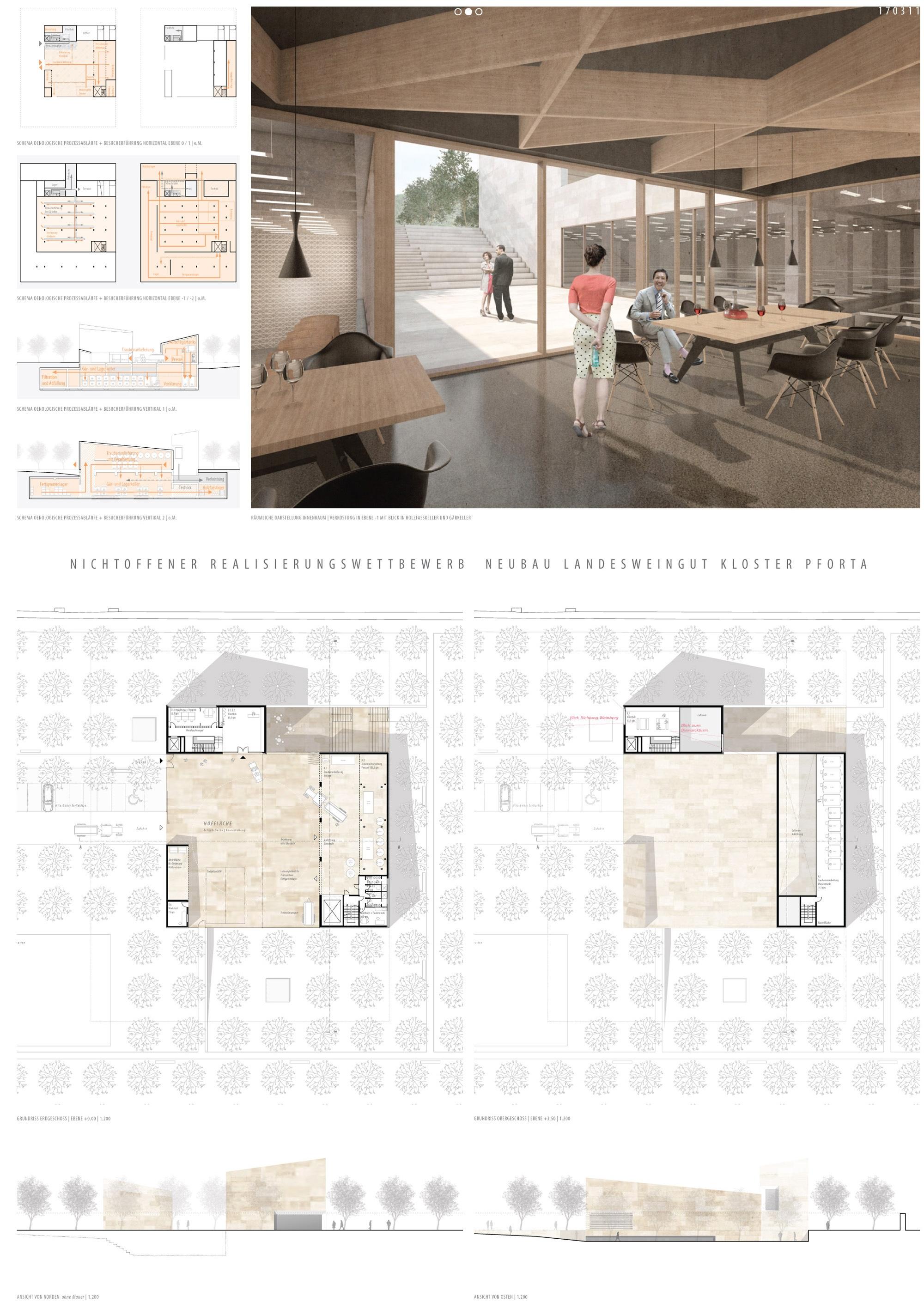 Ergebnis: Neubau Landesweingut Kloster Pforta...competitionline