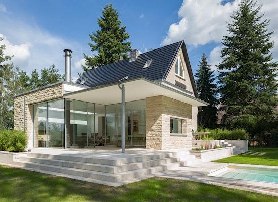 projekt moderner anbau an ein einfamilienhaus competitionline. Black Bedroom Furniture Sets. Home Design Ideas