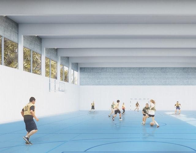 Ersatzneubau 2-Feld-Sporthalle und Neubau Sportfreianlagen 113. Grundschule Dresden